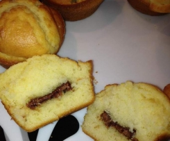 Super fluffige Muffins mit Schokokern