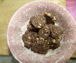 Schokoladen-Cashewkern-Kekse