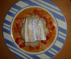 Fischfilet in Paprika-Kokosmilch-Soße