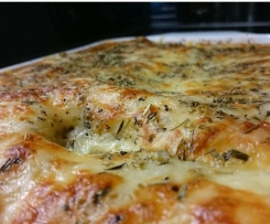 Variation von Spinat Lasagne