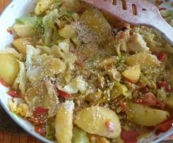 Spitzkohl - Kartoffel - Pfanne vegan