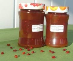 Rhabarber Stachelbeer Gelee mit Süßholz+Berberitze
