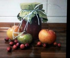 Apfel-Cranberrie-Konfitüre