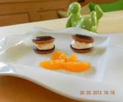 Cake - Burger mit Mandarinen  - Creme