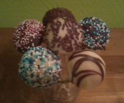 Schoko Cake Pops mit Schokoladen Kern (im Cake Pop Maker)