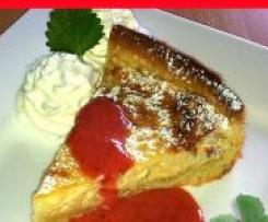 Milchreis Tarte mit Erdbeer-Limonen-Sauce