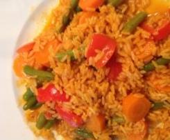 Orientalischer Reis mit Gemüse