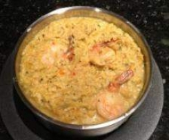 Rotes Thai Curry Risotto mit Garnelen