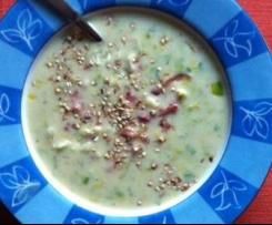 Lauch_Senfsuppe mit Speck und Salateinlage