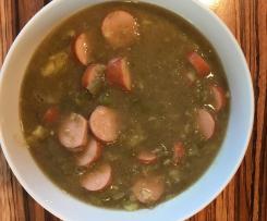 Bohnensuppe a la Oma mit Fleisch- & Wursteinlage