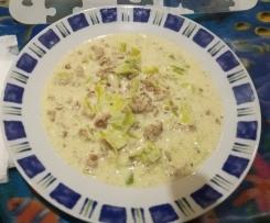 Hackfleisch Lauch Käse Suppe