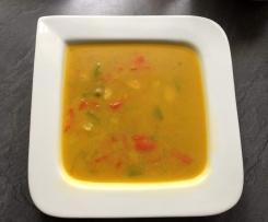 Gemüsesuppe mit Putenbrust