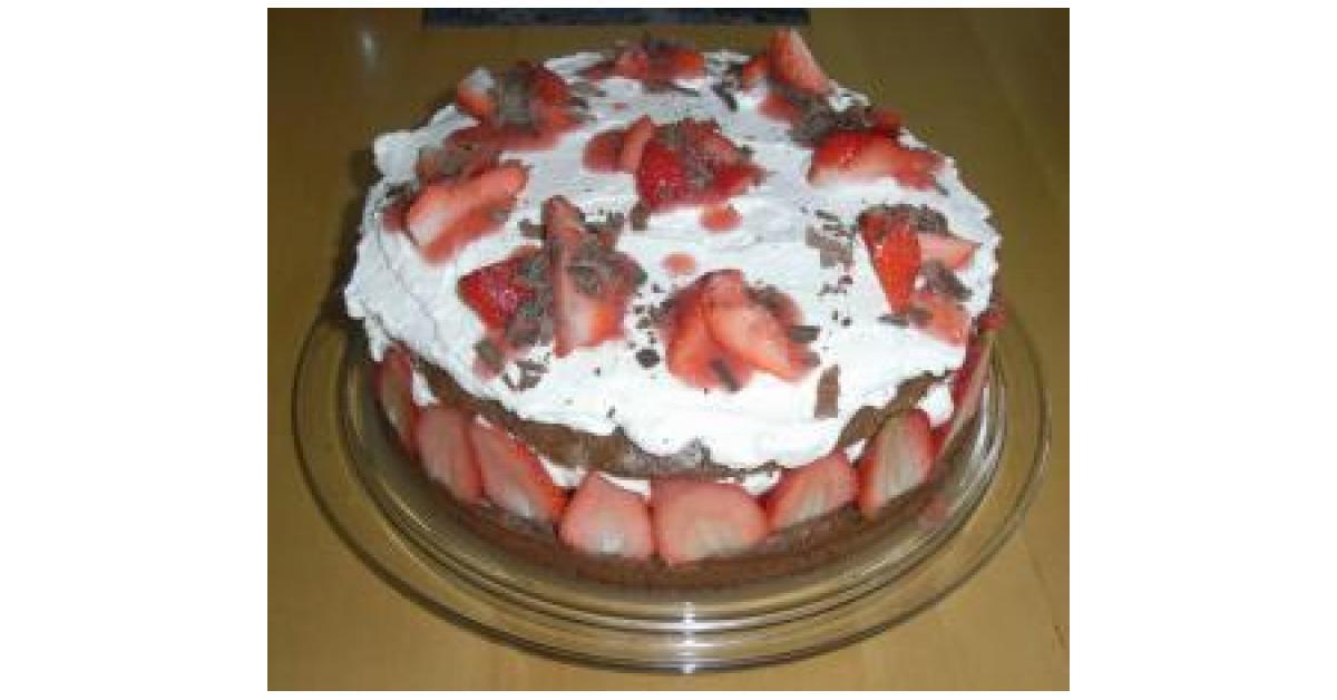 Erdbeer Vanille Torte Mit Schokoboden Von Kramerin Ein Thermomix