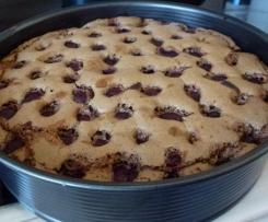 Kirsch-Schoko-Nuss Kuchen , Kirschkuchen