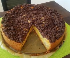 Birnen-Rahm-Kuchen mit Schoko-Nuss-Streusel