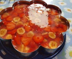 Erdbeer-Bananen Obstkuchen