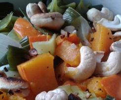 Lauch/Porree-Kürbis-Gemüse
