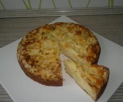 Vanille Apfelkuchen mit Joghurt LC nur ca. 150 kcal / Stück