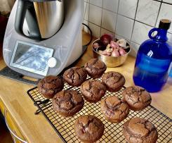 Schoko-Muffins (vegan und Zucker reduziert)