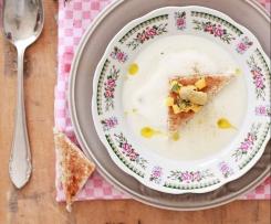 Spargelcremesuppe mit Thymian-Mango-Gremolata
