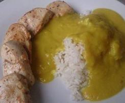 Fruchtiges Putencurry Currysoße