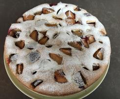 Pflaumen-Nuss-Kuchen ohne Butter