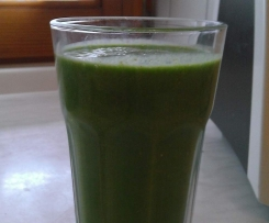 Banane-Spinat-Mandel-Drink Vegan, Veggie, low fat, Smoothie