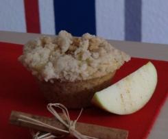 Apfel-Streusel-Cupcakes mit Puddingcreme