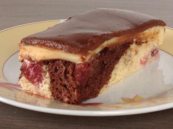 Donauwelle Mit Puddingcreme Und Weichem Schokoguss Von Zidda Ein