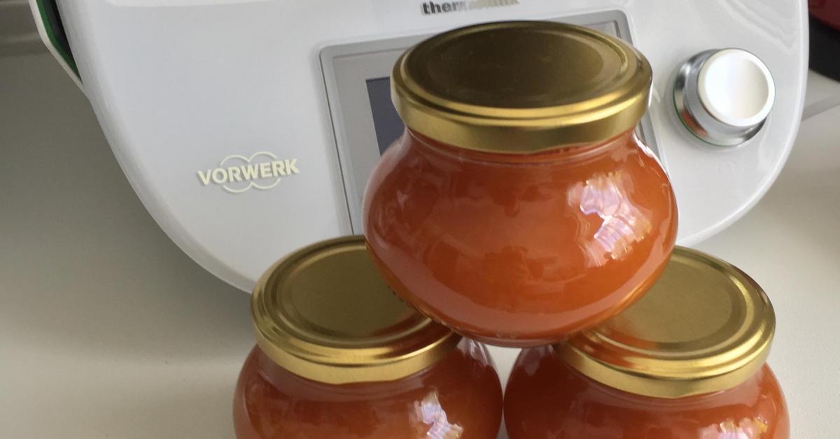 aprikosen pfirsich konfit re von speisekammer ein thermomix rezept aus der kategorie saucen. Black Bedroom Furniture Sets. Home Design Ideas