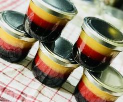 EM/WM Marmelade, schwarz-rot-gold