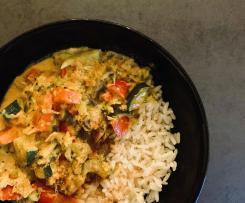 Reste-Curry (Gemüse-Curry mit Kokosmilch)