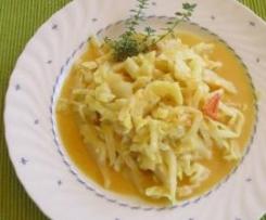 Weißkohl in Erdnuss- Soße