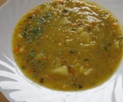 Linsen-Zucchini-Kartoffelsuppe