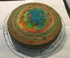 Regenbogenkuchen für den Kindergeburtstag