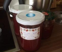 Apfel-Nektarine-Himbeer Marmelade