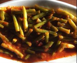 Grüne Bohnen / Taze fasülye yemeği