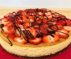 Erdbeer Karamell Cheesecake