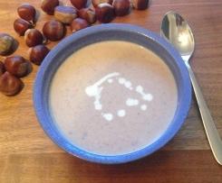 Maronensuppe mit Ingwer, Zimt und Kardamon