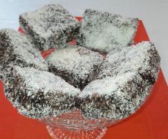 Lamingtons (exquisite kleine Biskuitküchlein aus Australien)