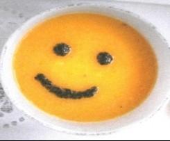 Smiley - Kartoffelsuppe mit Bärlauchpesto