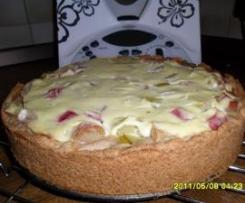 Rhabarberkuchen mit Guss (kalorienarm)