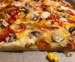 Pizza dünn Grundrezept