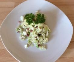 Krautsalat mit Schinken und Kümmel