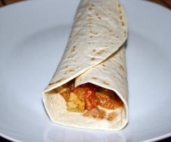 Vegane Wraps gefüllt mit Quinoa