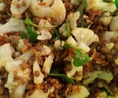 Blumenkohl-Linsen-Salat mit Rucola