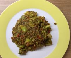 Linsencurry mit Gemüse