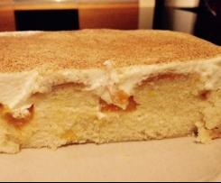 Blech-Zimt Kuchen mit Mandarinen & Schmand