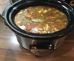Gulasch Suppe im Crock Pot