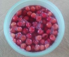 Variation von Kirschkompott / Eingemachte Kirschen ( Kirschen auf Vorrat)